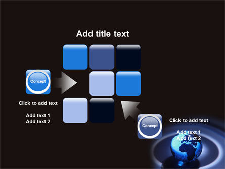 Blue World Globe PowerPoint Template Slide 16