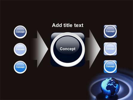 Blue World Globe PowerPoint Template Slide 17