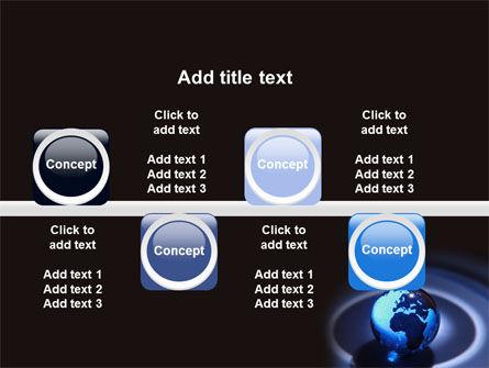 Blue World Globe PowerPoint Template Slide 19