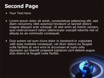 Blue World Globe PowerPoint Template, Slide 2, 06669, Global — PoweredTemplate.com