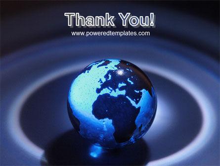 Blue World Globe PowerPoint Template Slide 20