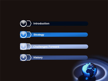Blue World Globe PowerPoint Template, Slide 3, 06669, Global — PoweredTemplate.com