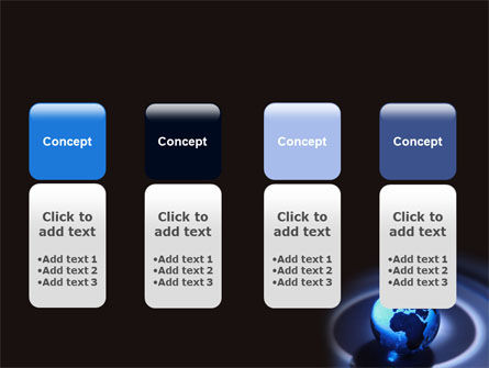 Blue World Globe PowerPoint Template Slide 5