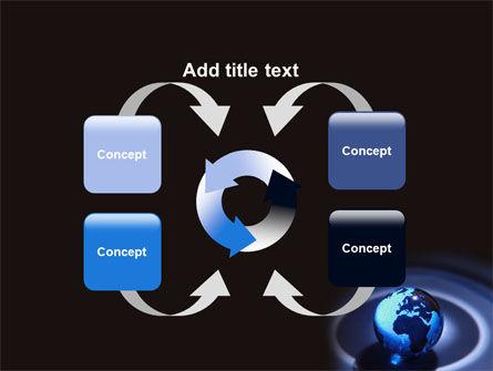 Blue World Globe PowerPoint Template Slide 6