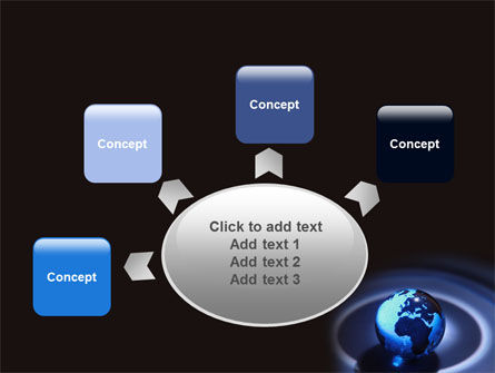 Blue World Globe PowerPoint Template Slide 7