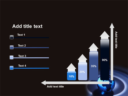 Blue World Globe PowerPoint Template Slide 8