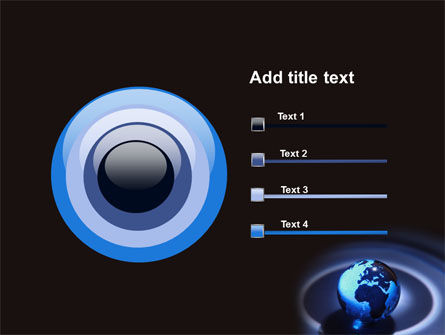 Blue World Globe PowerPoint Template Slide 9