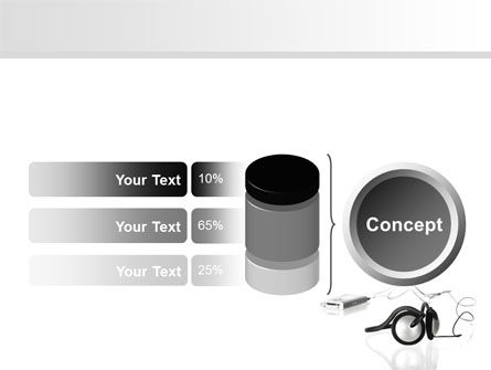Earphones For Mp3 Player PowerPoint Template Slide 11