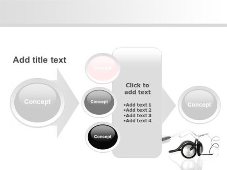 Earphones For Mp3 Player PowerPoint Template Slide 17