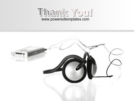 Earphones For Mp3 Player PowerPoint Template Slide 20
