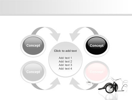 Earphones For Mp3 Player PowerPoint Template Slide 6