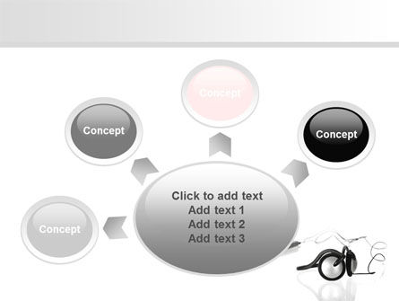 Earphones For Mp3 Player PowerPoint Template Slide 7