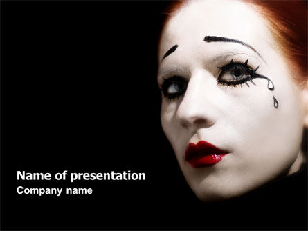 Portrait of Mime PowerPoint Template