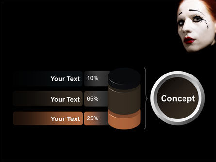 Portrait of Mime PowerPoint Template Slide 11