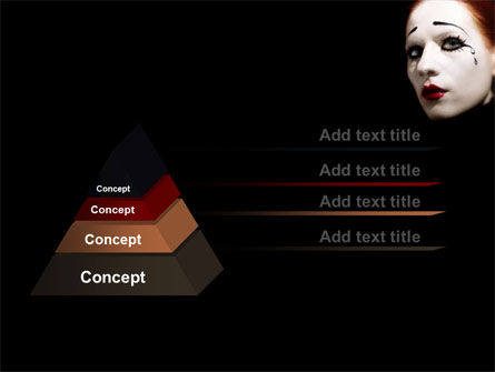 Portrait of Mime PowerPoint Template Slide 12