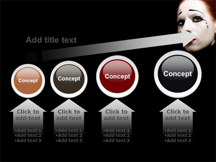 Portrait of Mime PowerPoint Template Slide 13
