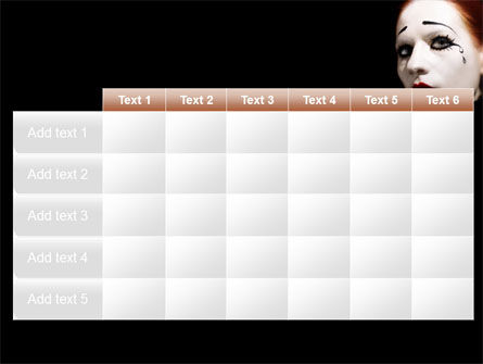 Portrait of Mime PowerPoint Template Slide 15