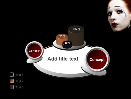 Portrait of Mime PowerPoint Template Slide 16