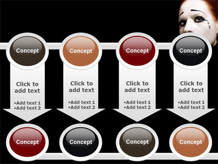 Portrait of Mime PowerPoint Template Slide 18