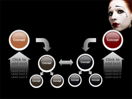 Portrait of Mime PowerPoint Template Slide 19