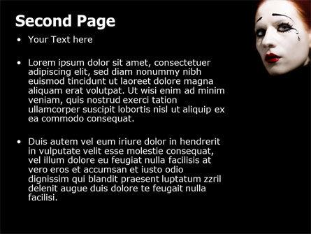 Portrait of Mime PowerPoint Template, Slide 2, 06672, Art & Entertainment — PoweredTemplate.com