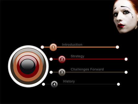 Portrait of Mime PowerPoint Template Slide 3