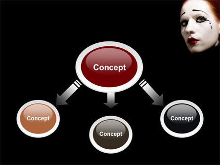 Portrait of Mime PowerPoint Template Slide 4