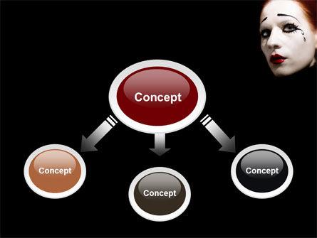 Portrait of Mime PowerPoint Template, Slide 4, 06672, Art & Entertainment — PoweredTemplate.com