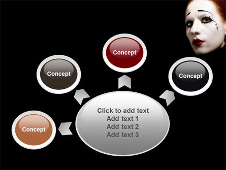 Portrait of Mime PowerPoint Template Slide 7