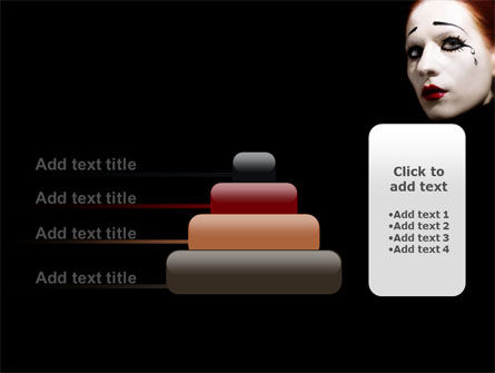 Portrait of Mime PowerPoint Template Slide 8
