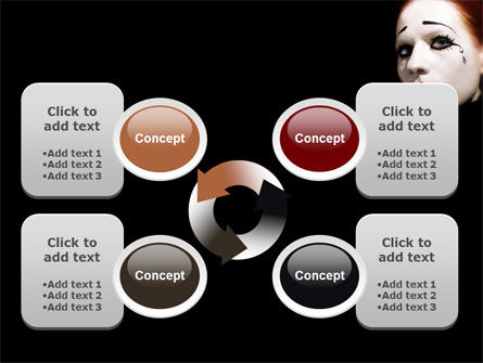 Portrait of Mime PowerPoint Template Slide 9