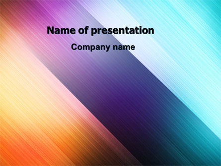Abstract Rainbow PowerPoint Template, 06673, Abstract/Textures — PoweredTemplate.com