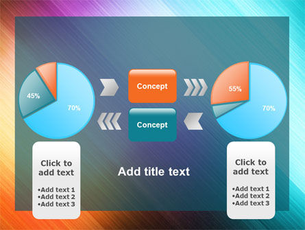 Abstract Rainbow PowerPoint Template Slide 11