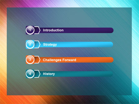 Abstract Rainbow PowerPoint Template, Slide 3, 06673, Abstract/Textures — PoweredTemplate.com