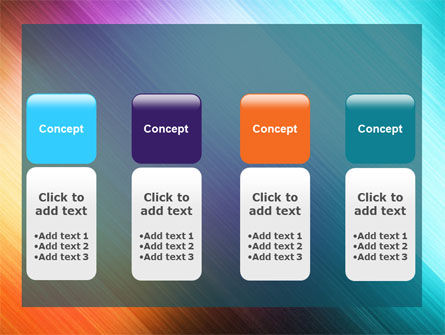 Abstract Rainbow PowerPoint Template Slide 5