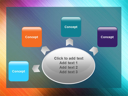 Abstract Rainbow PowerPoint Template Slide 7
