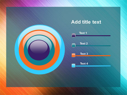 Abstract Rainbow PowerPoint Template Slide 9