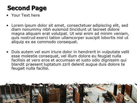 Big Building Site PowerPoint Template Slide 2