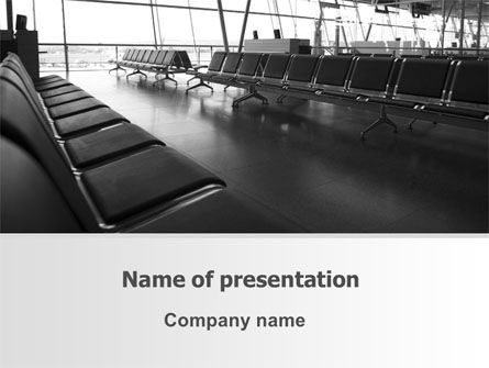 Business: Airport Waiting Room PowerPoint Template #06676
