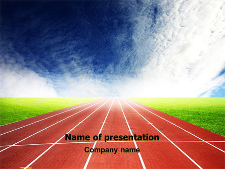 Race Track PowerPoint Template