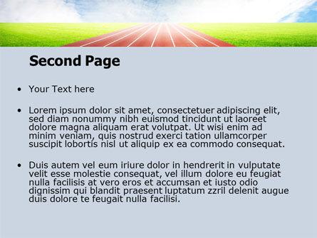 Race Track PowerPoint Template, Slide 2, 06677, Sports — PoweredTemplate.com