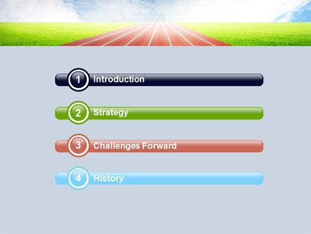 Race Track PowerPoint Template, Slide 3, 06677, Sports — PoweredTemplate.com