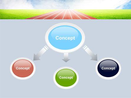 Race Track PowerPoint Template, Slide 4, 06677, Sports — PoweredTemplate.com