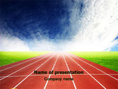 Sports: Race Track PowerPoint Template #06677