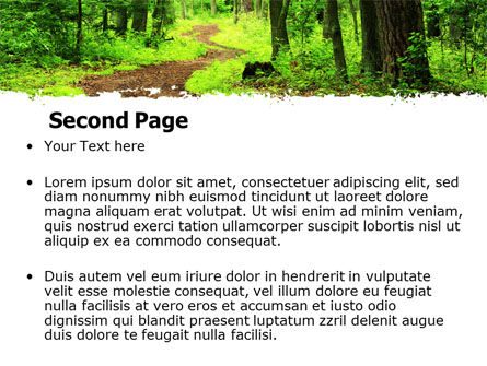 Green Woods PowerPoint Template, Slide 2, 06679, Nature & Environment — PoweredTemplate.com