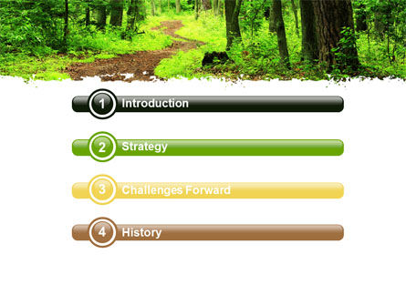 Green Woods PowerPoint Template, Slide 3, 06679, Nature & Environment — PoweredTemplate.com