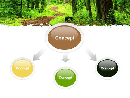 Green Woods PowerPoint Template, Slide 4, 06679, Nature & Environment — PoweredTemplate.com