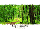 Nature & Environment: Green Woods PowerPoint Template #06679