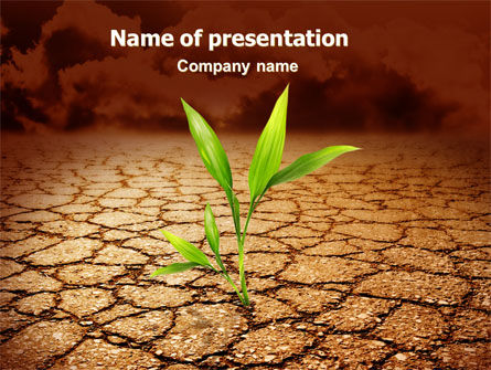 survival in desert powerpoint template backgrounds