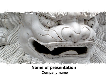 Art & Entertainment: Marmoreal Dragon PowerPoint Template #06681